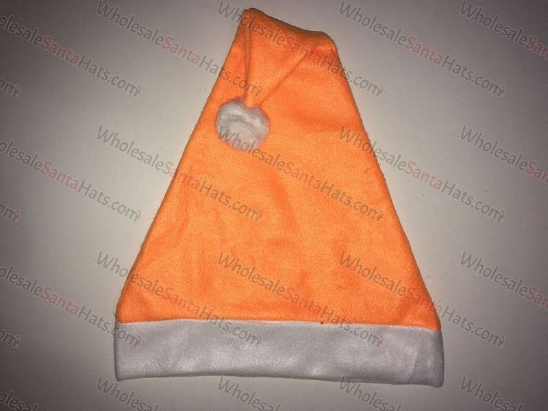9d7c5618 Orange Bulk Santa Hat - Wholesale & Bulk Santa Hats
