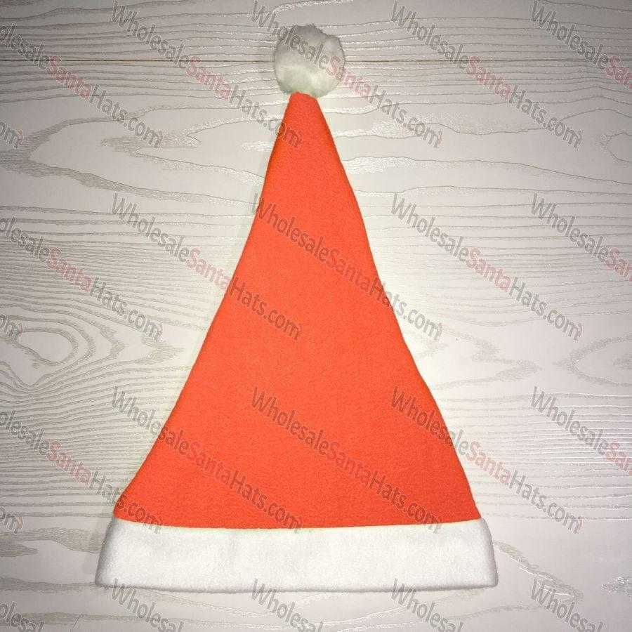 USA Bulk Neon Orange Santa Hat