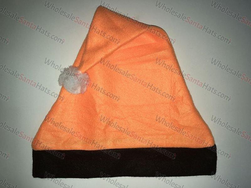 Orange and Black Bulk Santa Hat