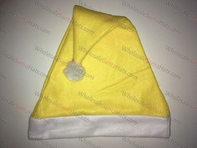 Yellow Bulk Santa Hat