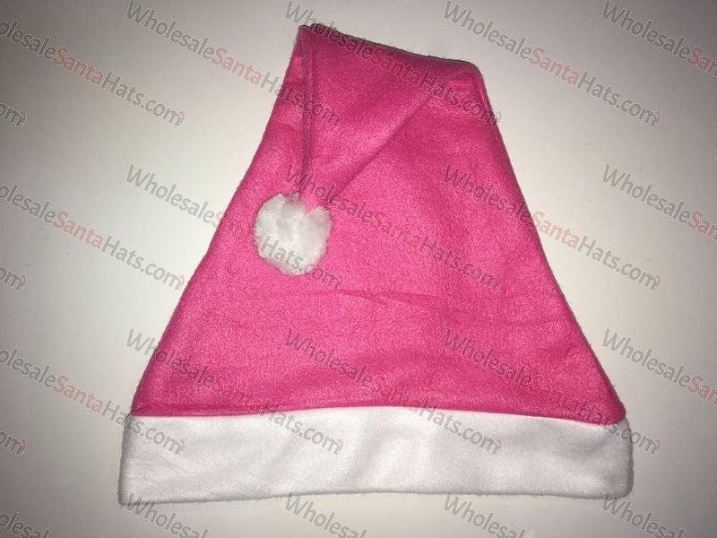 Pink Bulk Santa Hat