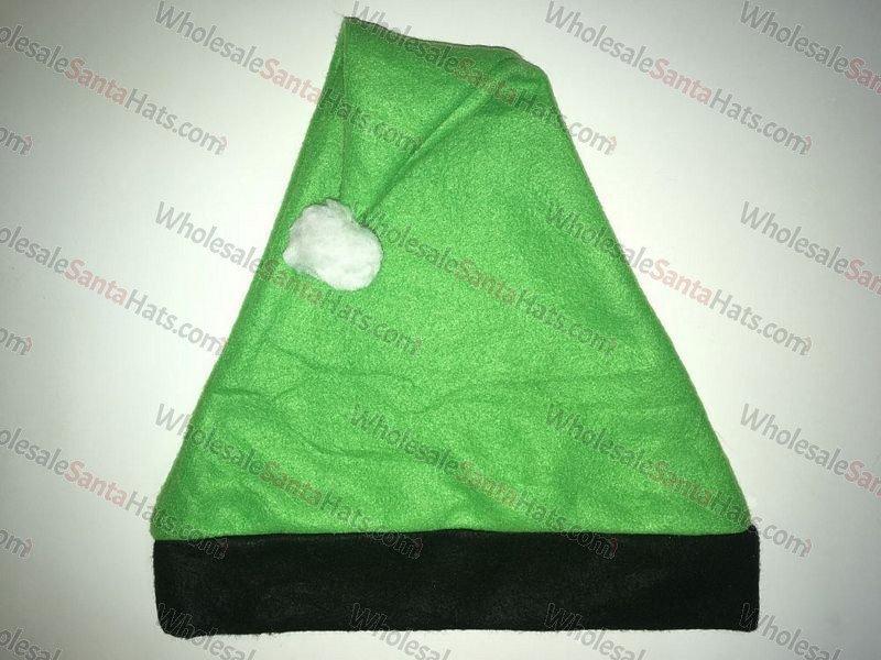 Green and Black Bulk Santa Hat