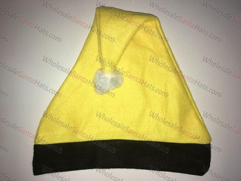Yellow and Black Bulk Santa Hat