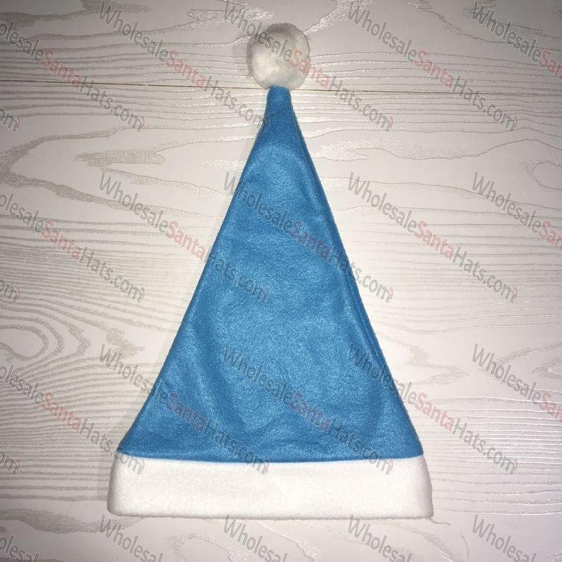 USA Bulk Light Blue Santa Hat