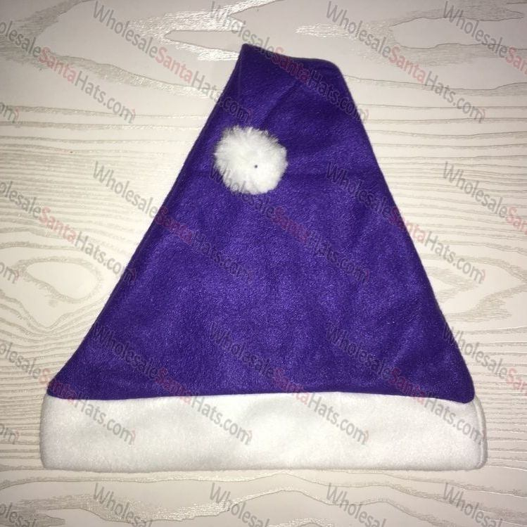 Purple Bulk Santa Hat