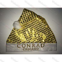 Gold Sequin Bulk Santa Hat