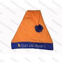 Orange Bulk Santa Hat Blue Brim